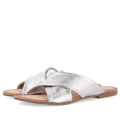 Sandalias de Mujer GIOSEPPO en Piel Plateada 48803 ARGEN