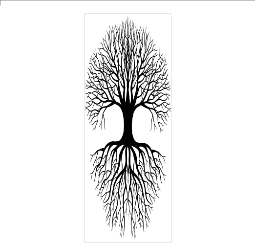 """Rooted Tree of Life Black or White  5/"""" X 7/"""" Card Fused Glass Decals"""