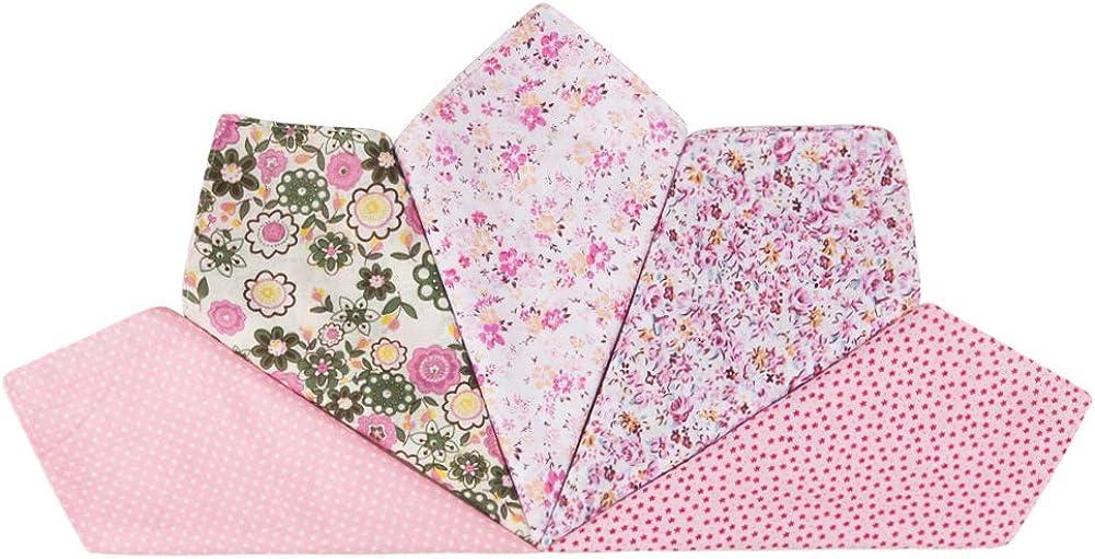 festa della mamma per ragazze Houlife Fazzoletti da donna in 100/% cotone 60S morbido vintage con stampa floreale rosa 36 x 36 cm 5//12 pezzi matrimonio