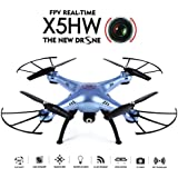 Syma X5HW WiFi FPV 2.4G 4CH RC 6 Axis Gyro Quadcopter Drone With 0.3MP HD Camera, A 360-degree 3D flips function RTF RC