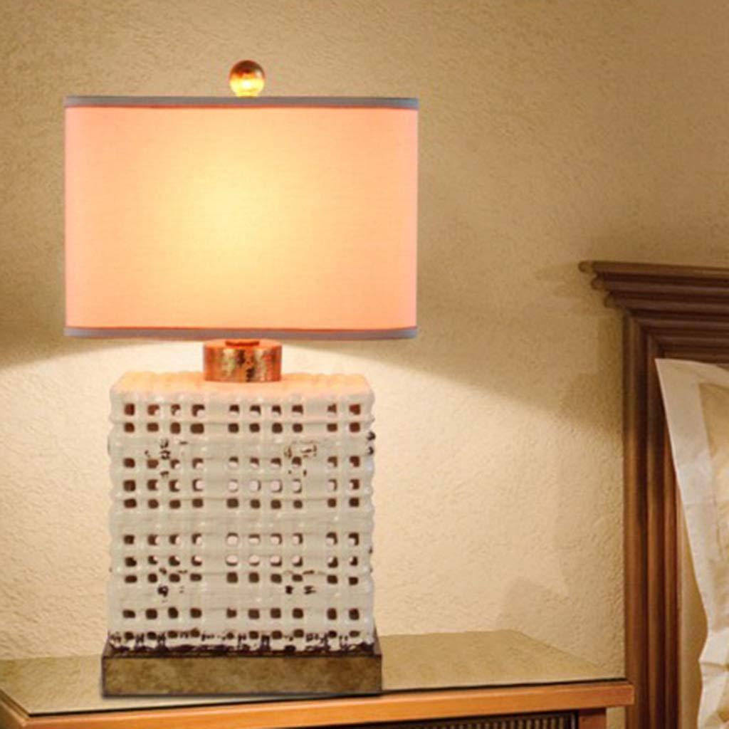 Amerikanische Keramik Tischlampe Schlafzimmer Nachttischlampe Dimmbar Retro Mode Mode Mode Wohnzimmer Schlafzimmer (Farbe   B-Taste) B07H3ZCSB7   Ausgezeichnet (in) Qualität  4cc3ef