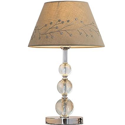 lámparas Luz de Escritorio Mesa De Cristal Dormitorio ...