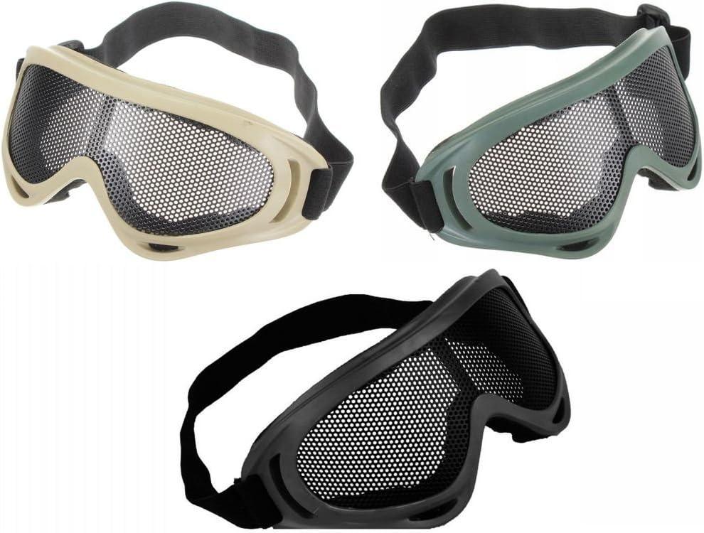 Amazona's presentz - Gafas de malla de alambre antidisturbios para airsoft BB
