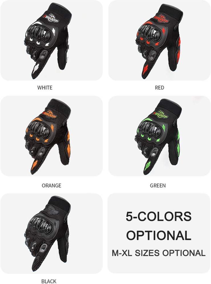 Touching Screen,Tickas Men/'s Motorcycle Gloves Touching Screen Full Finger Motorbike Racing Motor Cycling Motocross Mountain Breathable M-XL