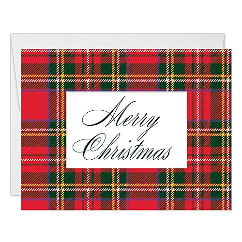 Amazon Classic Plaid Christmas Cards Envelopes Set Of 50