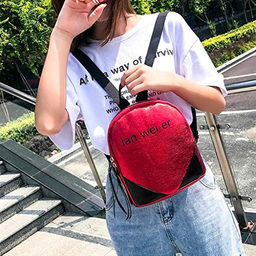 Backpack Bag Red Printed Casual bag Travel Women Letter EUzeo Fashion Backpack 7gxffH