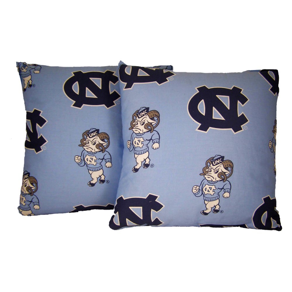 College Covers International North Carolina Tar Heels 16'' X 16'' Decorative Pillow - (Includes 2 Decorative Pillow)