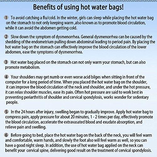 KOODER Hot Water bottle,Slow down the symptom of dysmenorrhea,Winter heating products! 2L … (Purple) by KOODER (Image #4)
