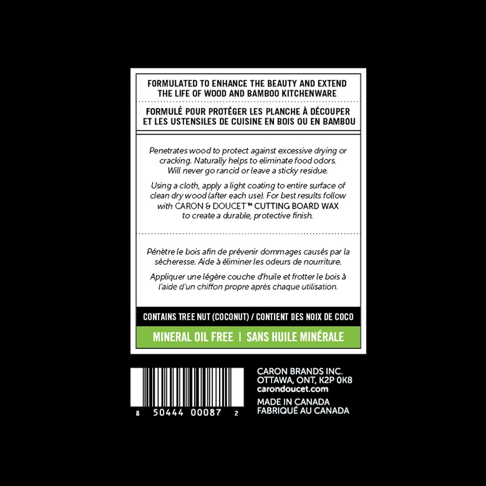 Caron & Doucet - Cutting Board & Butcher Block Bundle: 2 items - 1 Cutting Board & Butcher Block Oil, 1 Cutting Board & Butcher Block Wax. 100% Plant Based (8oz Bullet) by Caron Doucet Cuisine (Image #6)
