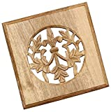 STOCK CLEARANCE - SouvNear 8.1 x 8.1 Inches Mango Wood Trivet / Hot Dishes, Beige Color - Kitchen Accessories