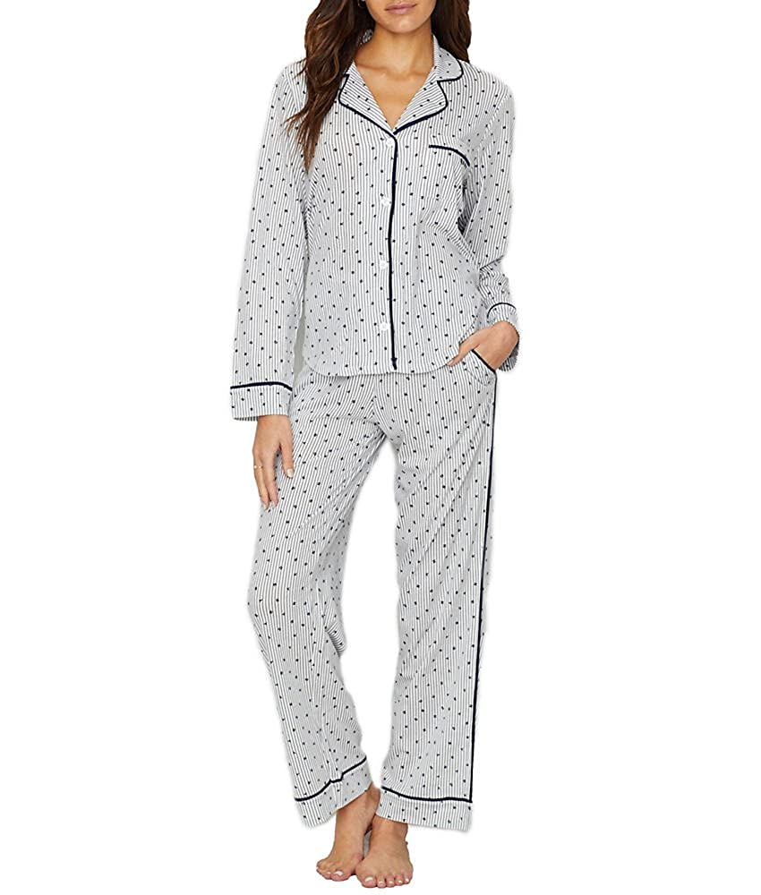 DKNY New Signature Long PJ Set in Black (2719259/001) Y2719259