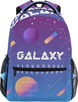 Amazon.com: Mochila grande con fondo de galaxia, bolso de ...