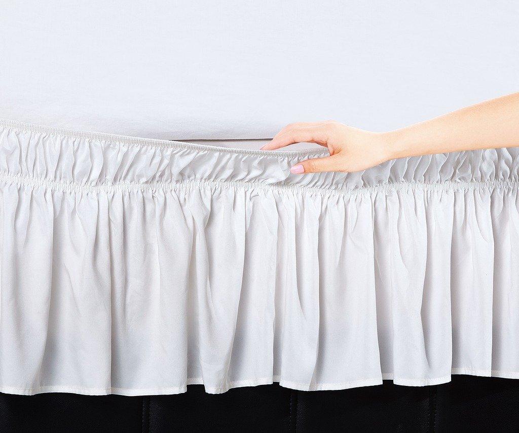 De Moocci Luxury Wrap Around Style Elastic Bed Ruffled