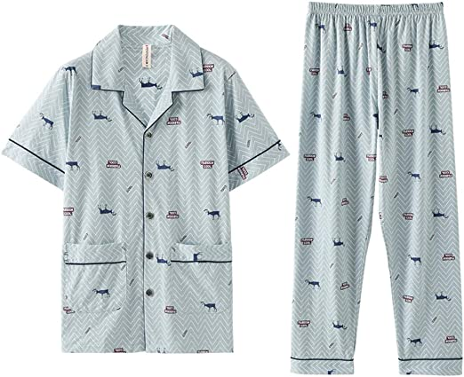 Pijama De Manga Corta Pantalones De Rebeca De Algodón Fino De ...