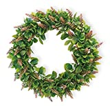 Celebrate the Home Decorative Foliage Wreath, 15-Inches, Pink Lauren