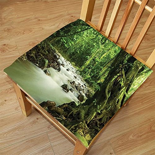 Nalahome Set of 2 Waterproof Cozy Seat Protector Cushion Rainforest Decorations Tropical Rainforest And Rocky River In Selangor State Malaysia Asian Wildlife Green Brown Printing Size - Malaysia Sunglasses