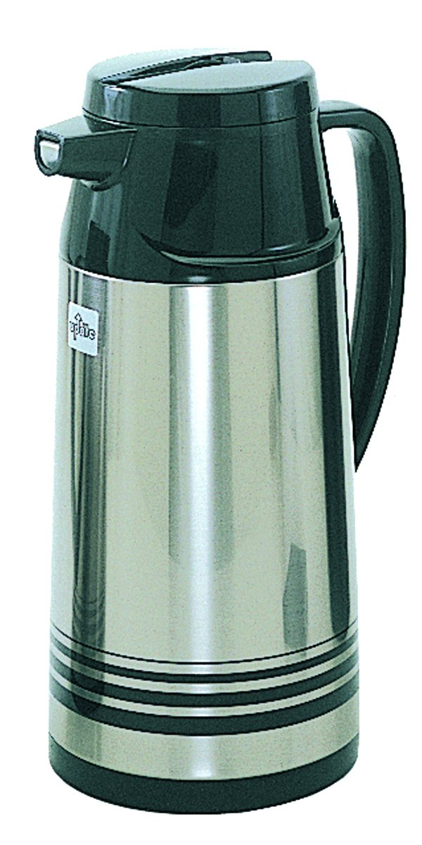 Update International AIS-190/SF 1.9L Click Pour Server, Pp+Stainless Steal+Glass Refill