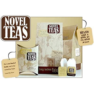 Novel Teas contains 25 teabags individually tagged with literary quotes from the world over, made with the finest English Breakfast tea