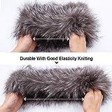 Winter Fox Fur Hat Headband - Women's Genuine Wrap