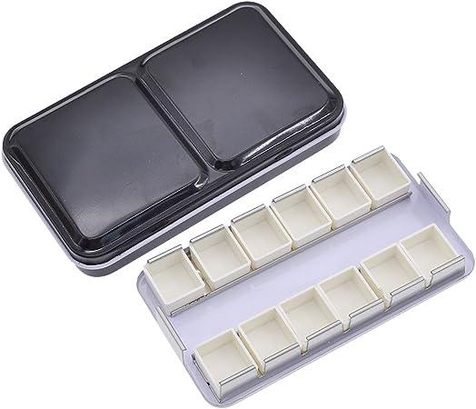 YNuth Caja Vacía de Metal para Acuarela con 12 Pans Acualera Medias: Amazon.es: Hogar