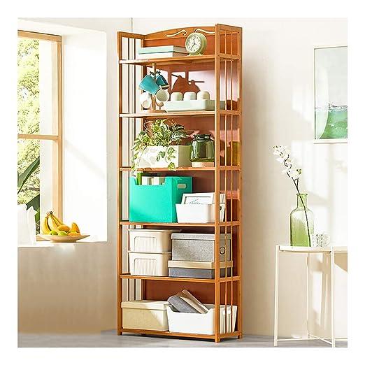 Estantería de cocina de madera maciza para microondas y libros ...