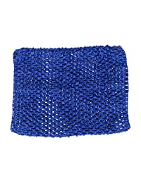MagiDeal Dress Up Princess Crochet Tutu Tube Top Wide Headband For Kids Baby Girls 7 Colors to Choose - Dark Blue, as described