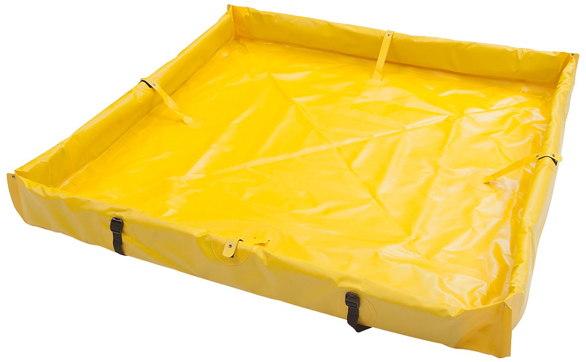 AIRE INDUSTRIAL 918-060804Y Duck Pond Portable Containment, 120 Gallon Spill Capacity, 72'' Length x 96'' Width x 4'' Height, Yellow