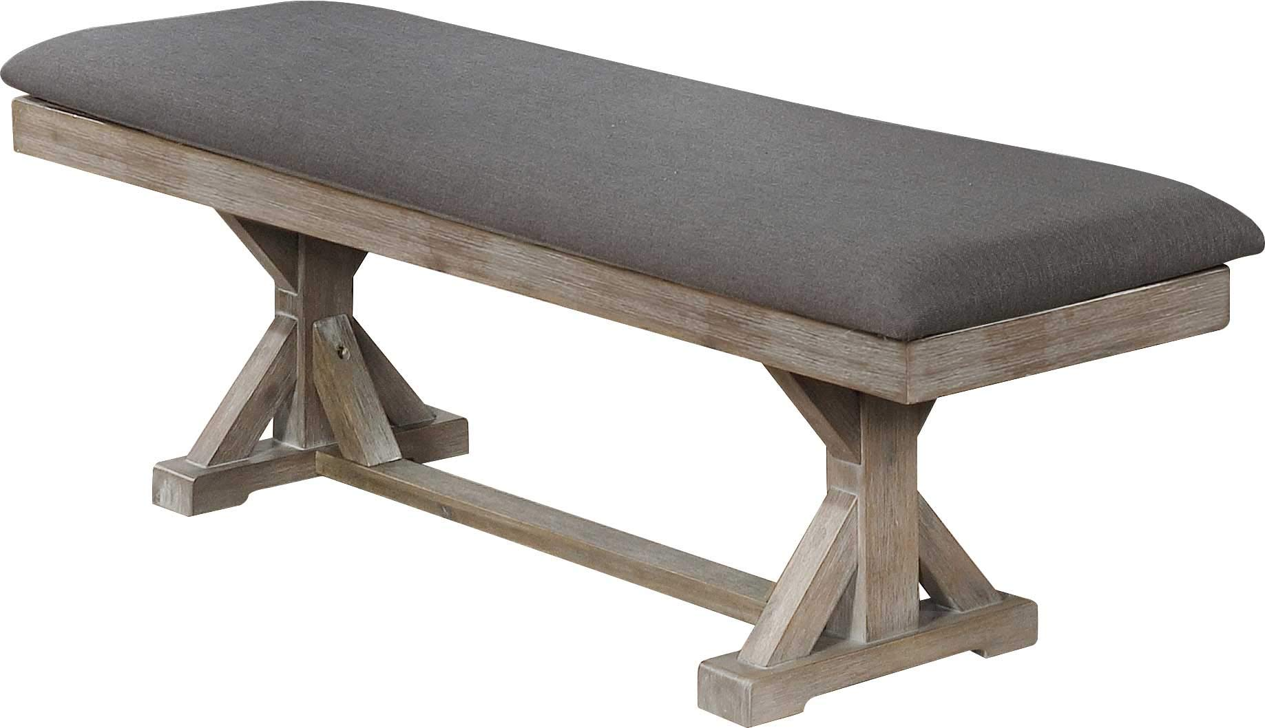 Best Quality Furniture Dining Bench (Single) Gray by Best Quality