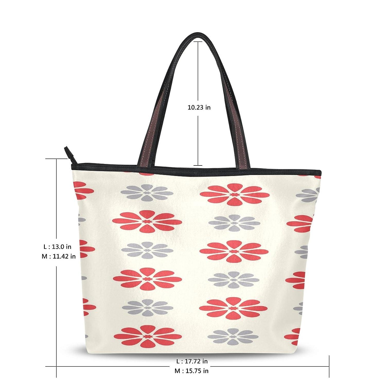 WHBAG Lightweight Handbag For Women,Vintage Red Flower,Shoulder Tote Bag