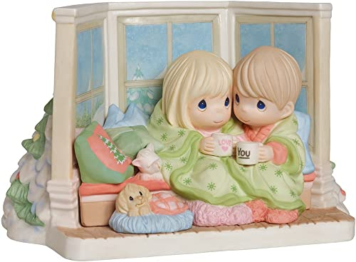 Precious Moments, May Your Christmas Be Cozy and Bright , Limited Edition, Bisque Porcelain Sculpture, 161022