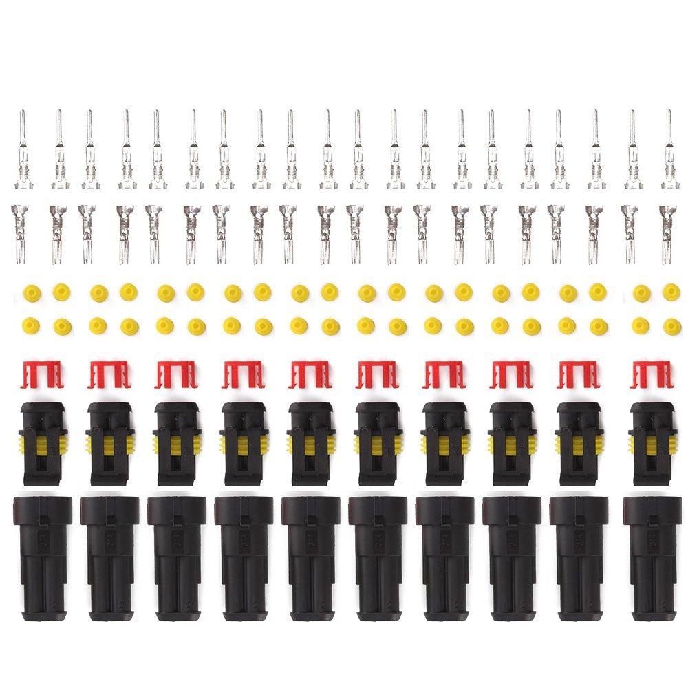 JUEYAN Lot de 60 connecteurs de type Superseal /étanche /à leau pour voiture camion bateau