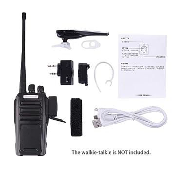 Bluetooth 4.0 Auricular inalámbrico K Tipo Manos Libres de Oído para Baofeng Kenwood Wouxun HYT Radio Radios: Amazon.es: Electrónica
