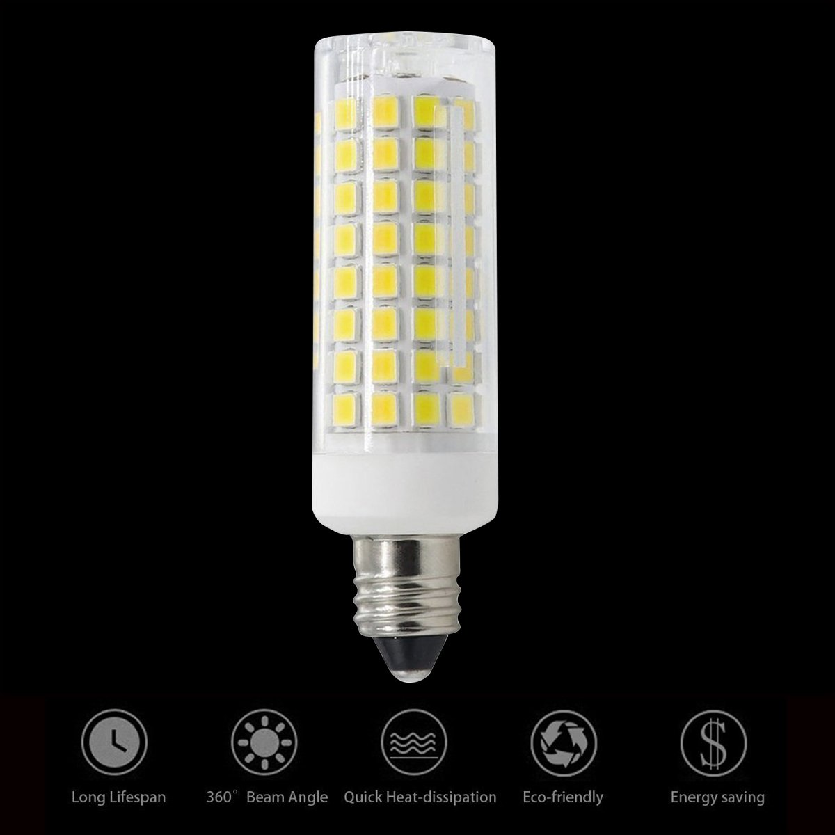 Indoor Lighting Dimmable 7W 75W Halogen Bulb Equivalent XRZT LED E11 Bulb 100W 75W E11 LED Mini Candelabra Base Light Bulbs Warm Pack of 4
