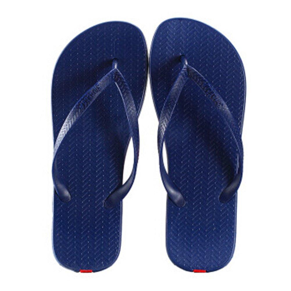 e14cb77fb3ed3 Amazon.com   Unisex Casual Flip-flops Beach Slippers Anti-Slip House  Slipper Navy   Beauty