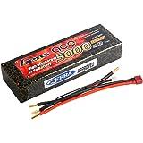 Gens ace B-50C-5000-2S1P-HardCase-10 Polímero de litio 5000mAh 7.4V batería recargable - Batería/Pila recargable (5000 mAh, Polímero de litio, 7,4 V, Multicolor)