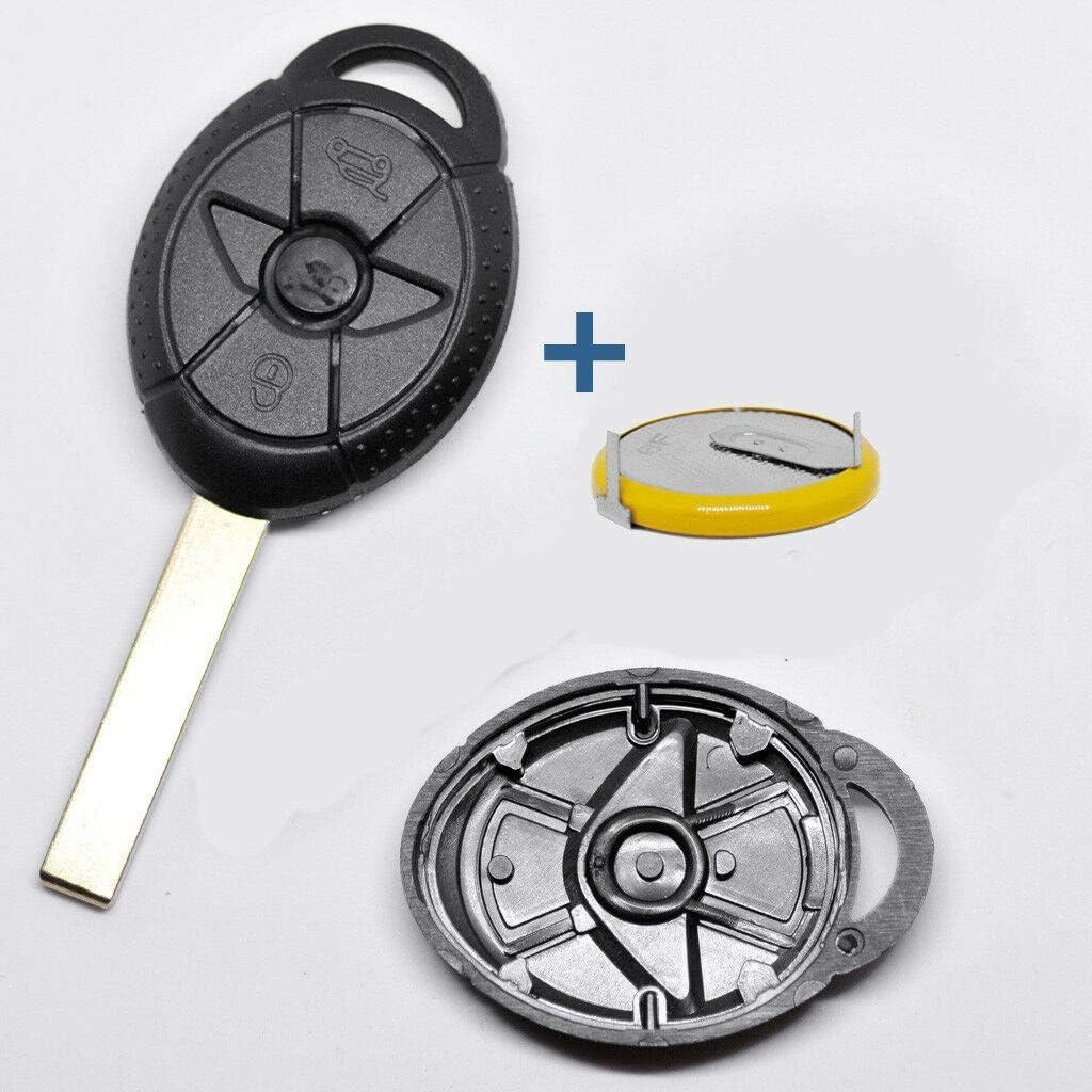 Carcasa Funda Llave Remoto Mando 1 bot/ón para Mini Cooper S One D Cabrio con Llavero de Cuero KASER