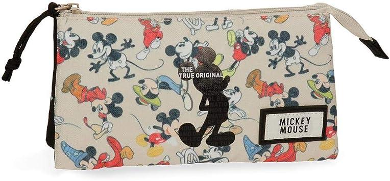 Estuche Mickey True Original tres compartimentos: Amazon.es: Equipaje