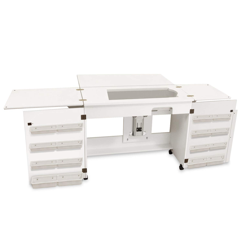 Arrow 98701 | 'Bertha' Nähmaschinenschrank | Farbe Weiß | 213¾ x 99½ x 77½cm Arrow Cabinets