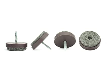 Floor Protectors Soft Felt Pads Screw On Sliders 24mm Available in 20mm 28mm or 40mm Diameter Made in Germany Perfect on Solid Wood Floors Laminates and Similar Furniture Gliders