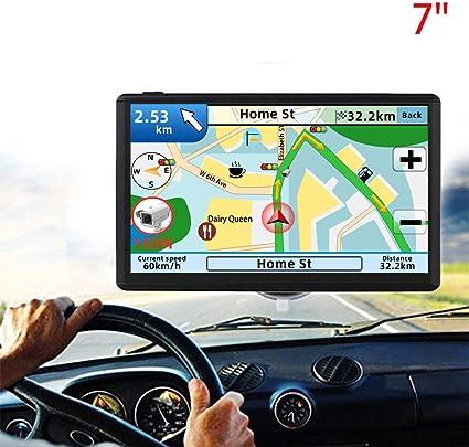 Navegación GPS para autos, 7 pulgadas, 8 GB, 256 MB, pantalla táctil, dirección de voz real 2019, última actualización de mapas gratis: Amazon.es: Coche y moto
