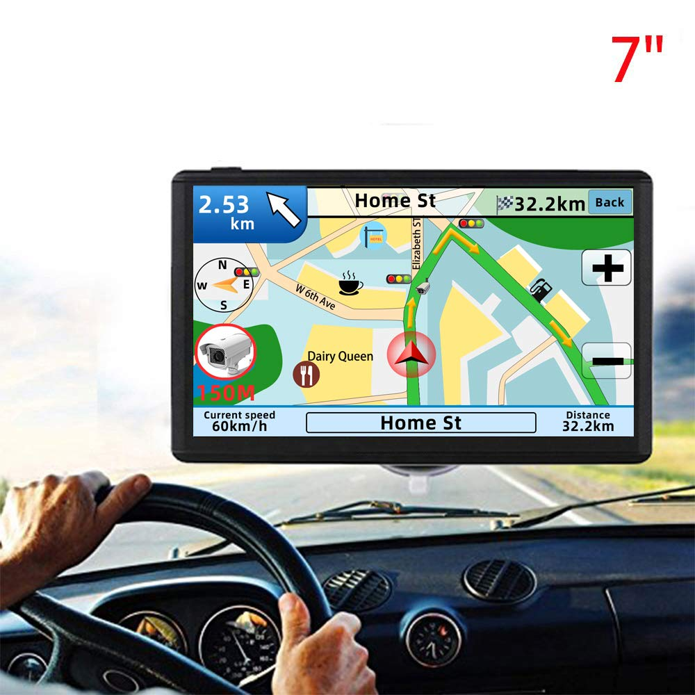 GPS Navigation for car,7 Inch GPS Navigation System, 8GB 256MB Car Navigation, Touch Screen Real Voice Direction 2019 Latest Maps Free Updates by Anstar (Image #1)
