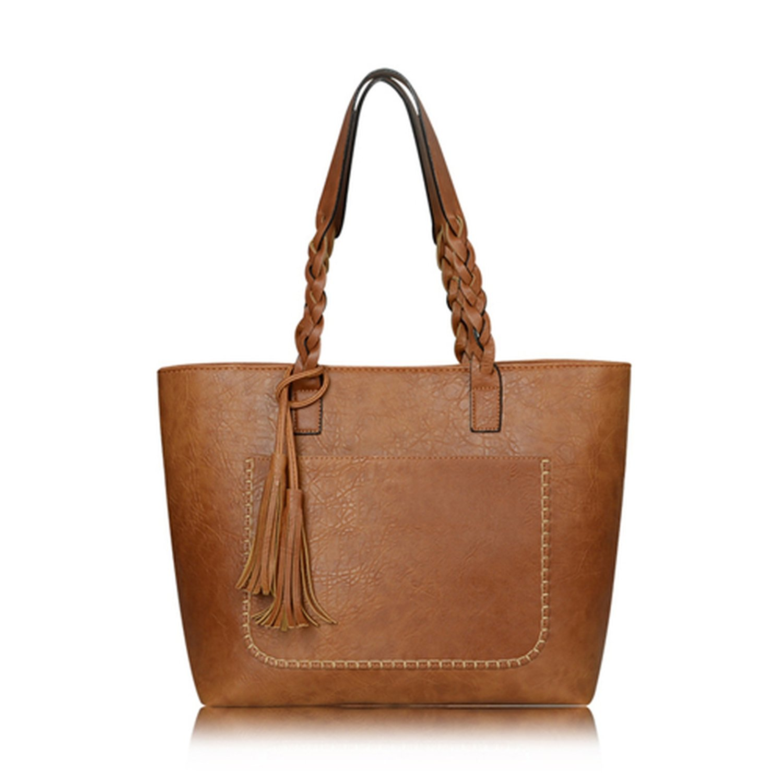 530d2f3212d Amazon.com  Women Messenger Bags Large Capacity Women Bags Shoulder Tote  BagsbolsosWith Tassel Famous Designers Leather Handbags,Khaki,China,kmf8888   Shoes