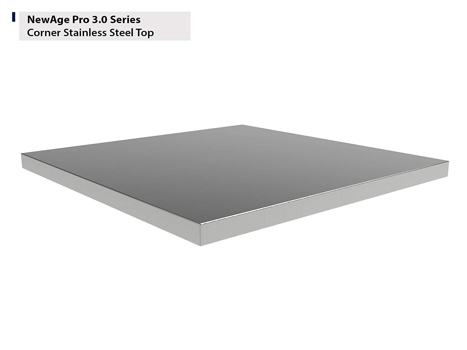 NewAge Products Pro 3.0 Corner Stainless Steel Worktop 36755