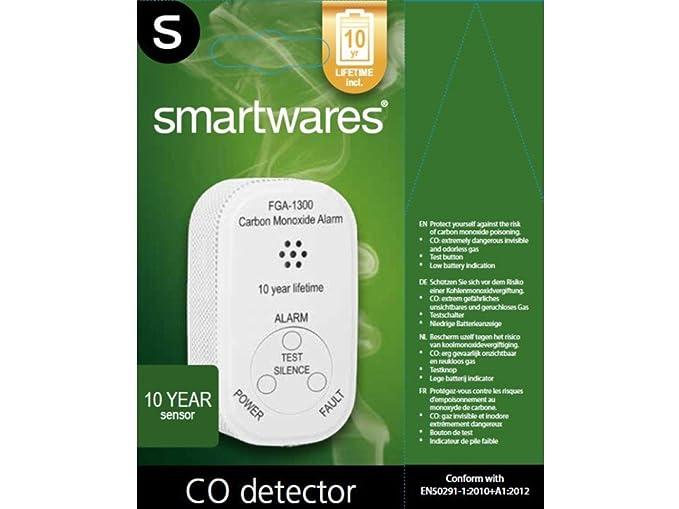 Smartwares Detector de monóxido de carbón de Juego con batería de 10 años, co Warner, en 50291: Amazon.es: Bricolaje y herramientas