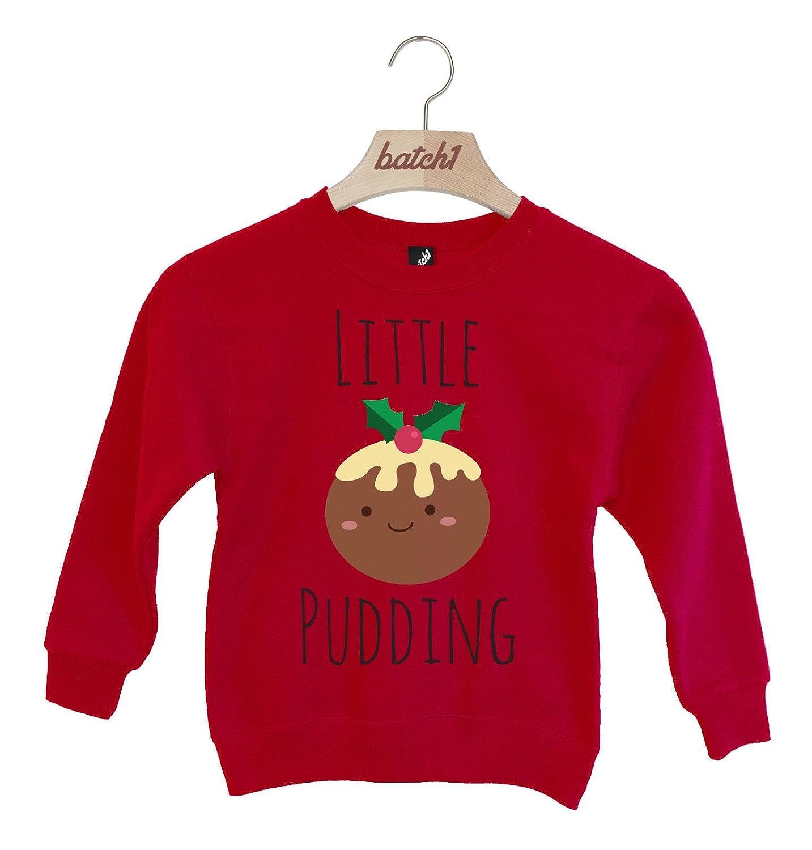 Batch1 Little Pudding Novelty Christmas Festive Xmas Kids Sweatshirt Jumper