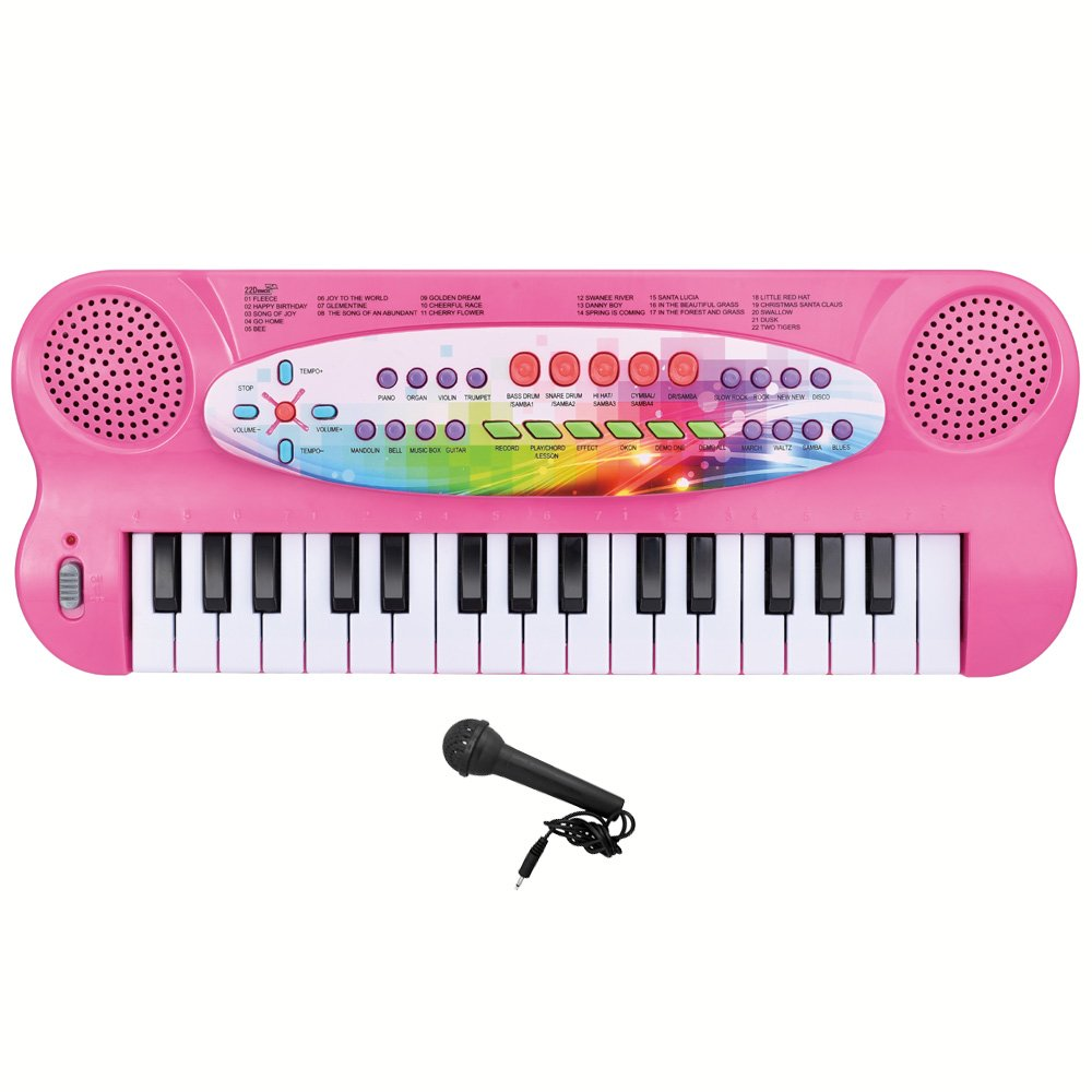 Lightahead 32-key Electronic Organ Keyboard Piano Portable Multi-function Kids Children Educational Toy - Black 32KB