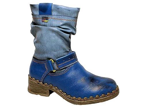 8b7b7e1a25 TMA Damen Winter Stiefel Boots gefüttert Winterstiefel Winterschuhe 36-42  Blau 36: Amazon.de: Schuhe & Handtaschen