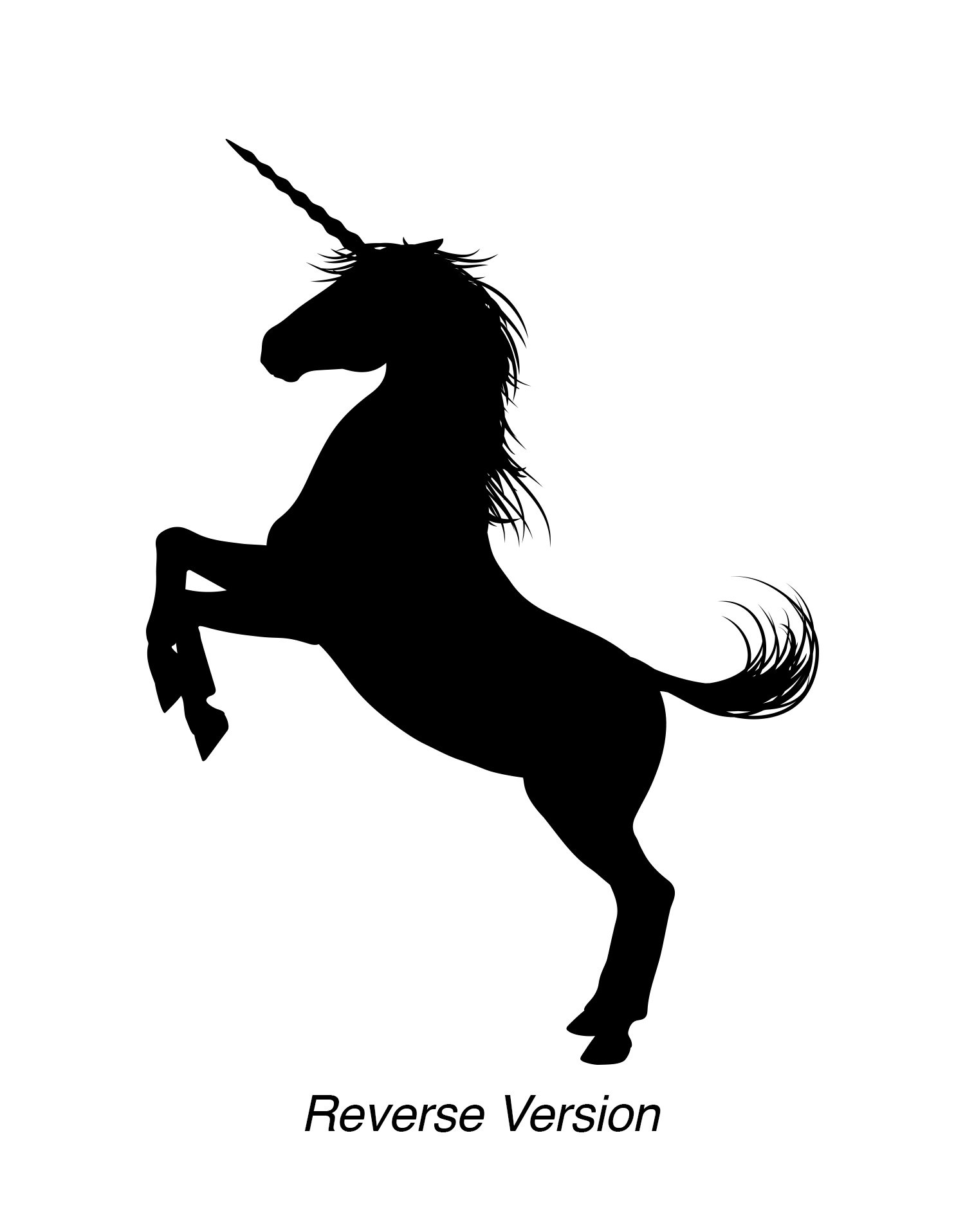 Unicorn Wall Decal Sticker. Black Color, Large 45in Tall X 33in Wide. Fantasy Silhouette Design for Girl's Bedroom Decor… 3