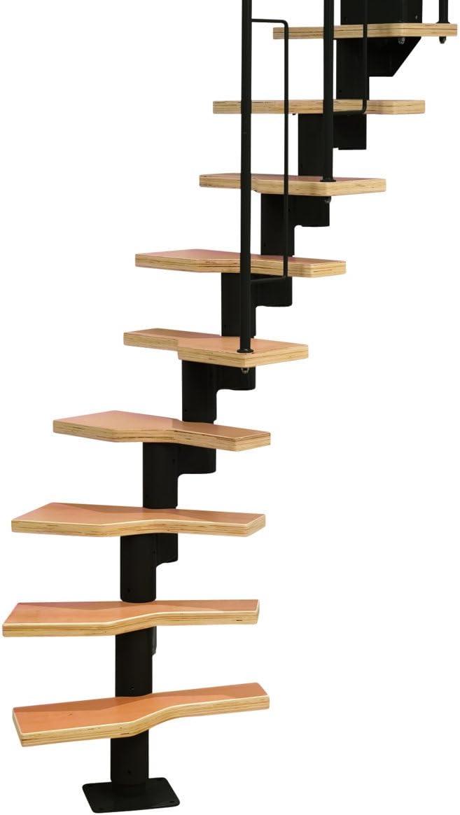 Dolle - Escalera modular en espiral para ahorrar espacio, color negro: Amazon.es: Bricolaje y herramientas