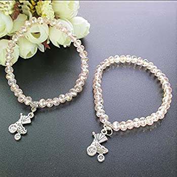 Amazon.com: Baby Shower Girl elástico pulsera Favors con ...
